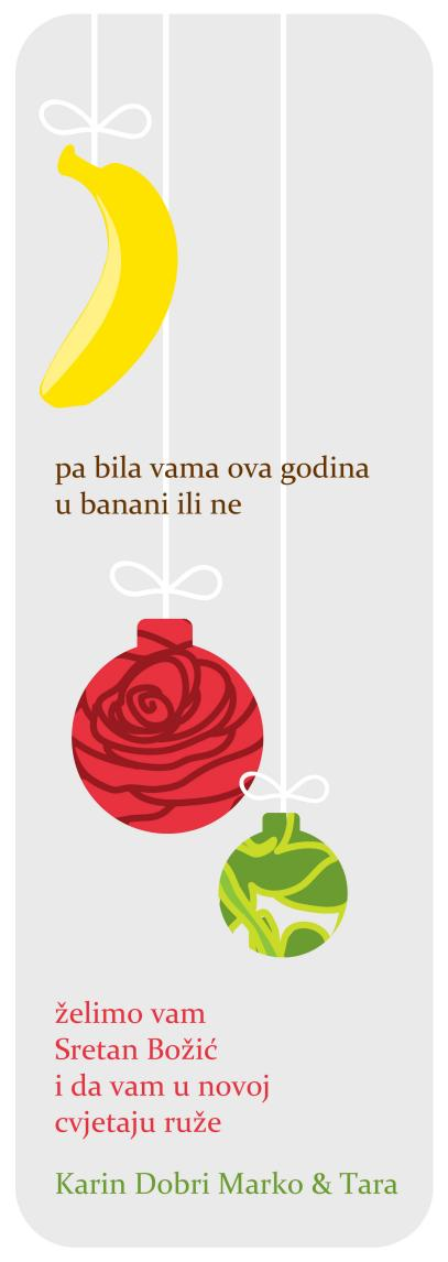 Ružičasta banana čestitka