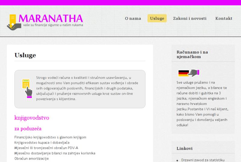 Maranatha web site
