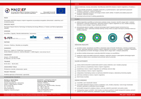 MAGEF project leaflet