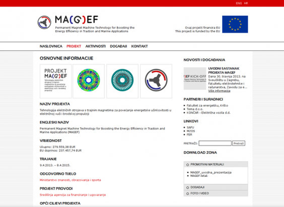 Projekt MAGEF web