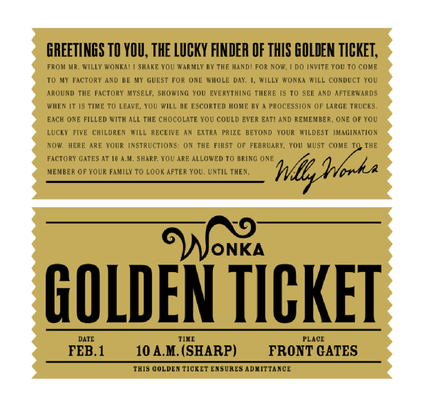 Golden Ticket | mala tvornica ideja