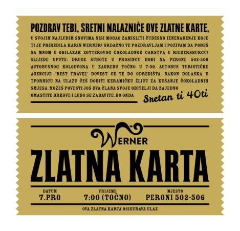 Golden Ticket - Croatian version