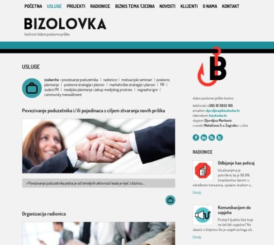Bizolovka web - services
