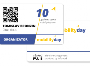 Accreditation Cards and flyer for MobilityDay 2016