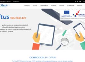 Novi Citusov web