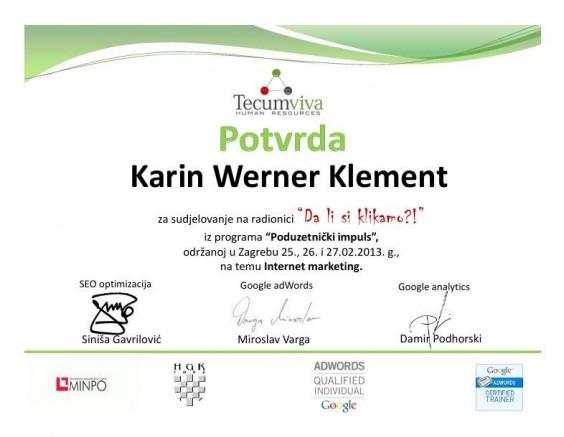 Internet marketing - certificate