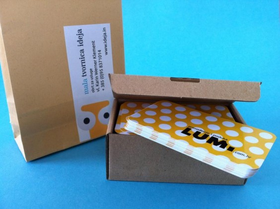 Lumi bussines card - packaging