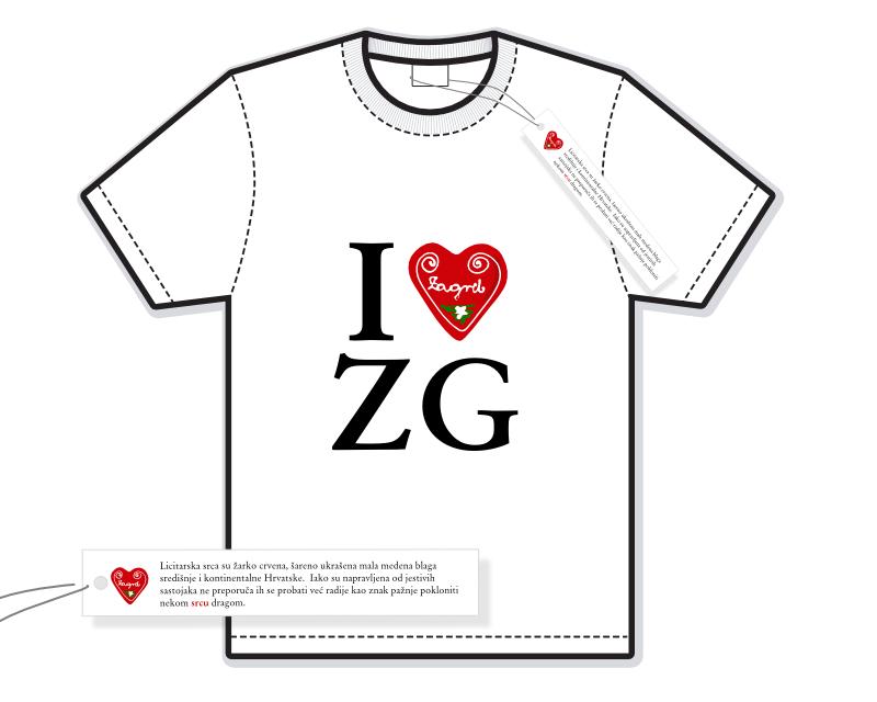 I love ZG - ilustracija