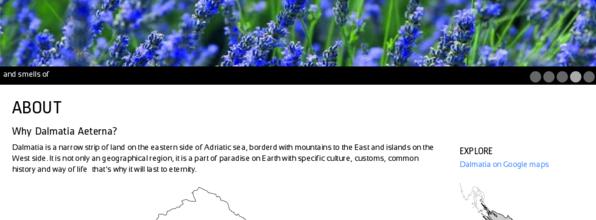 Dalmatia aeterna na webu