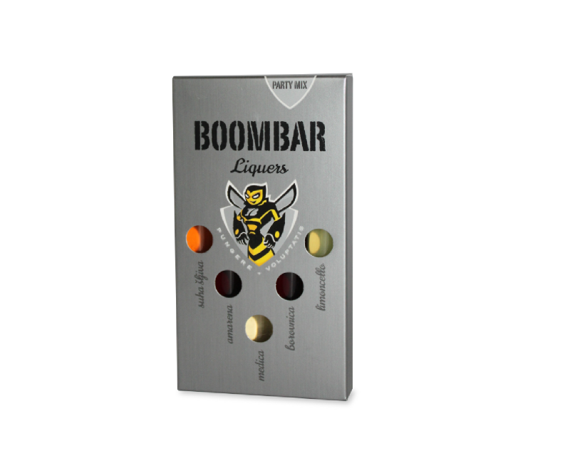 Packiging design for Boombar party mix liquers