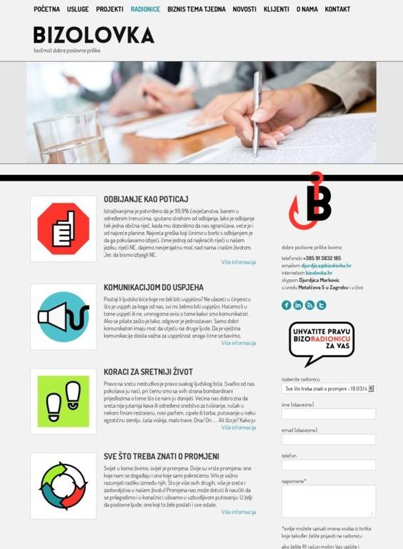 Bizworkshops on web