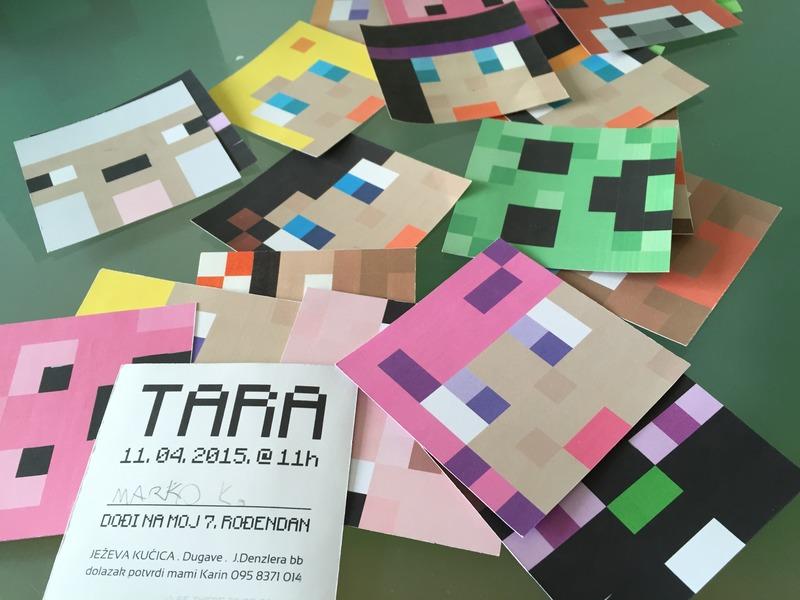 Minecraft birthday | mala tvornica ideja