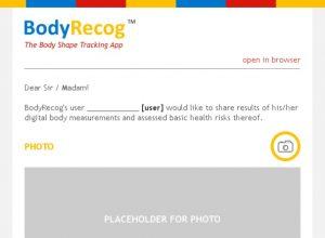 Email predložak za BodyRecog