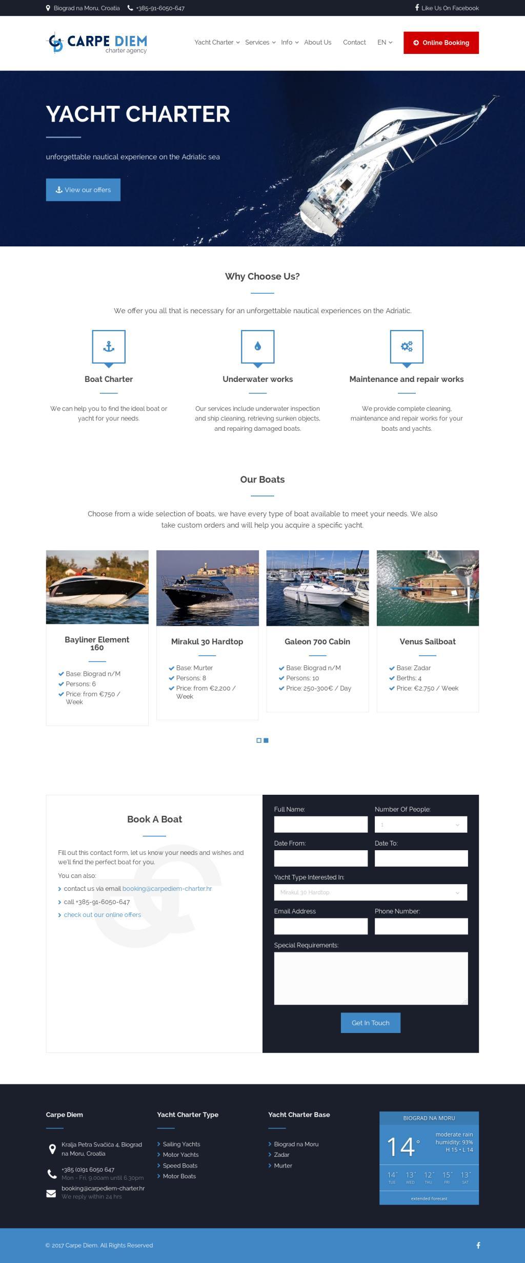 Carpe Diem Charter web site