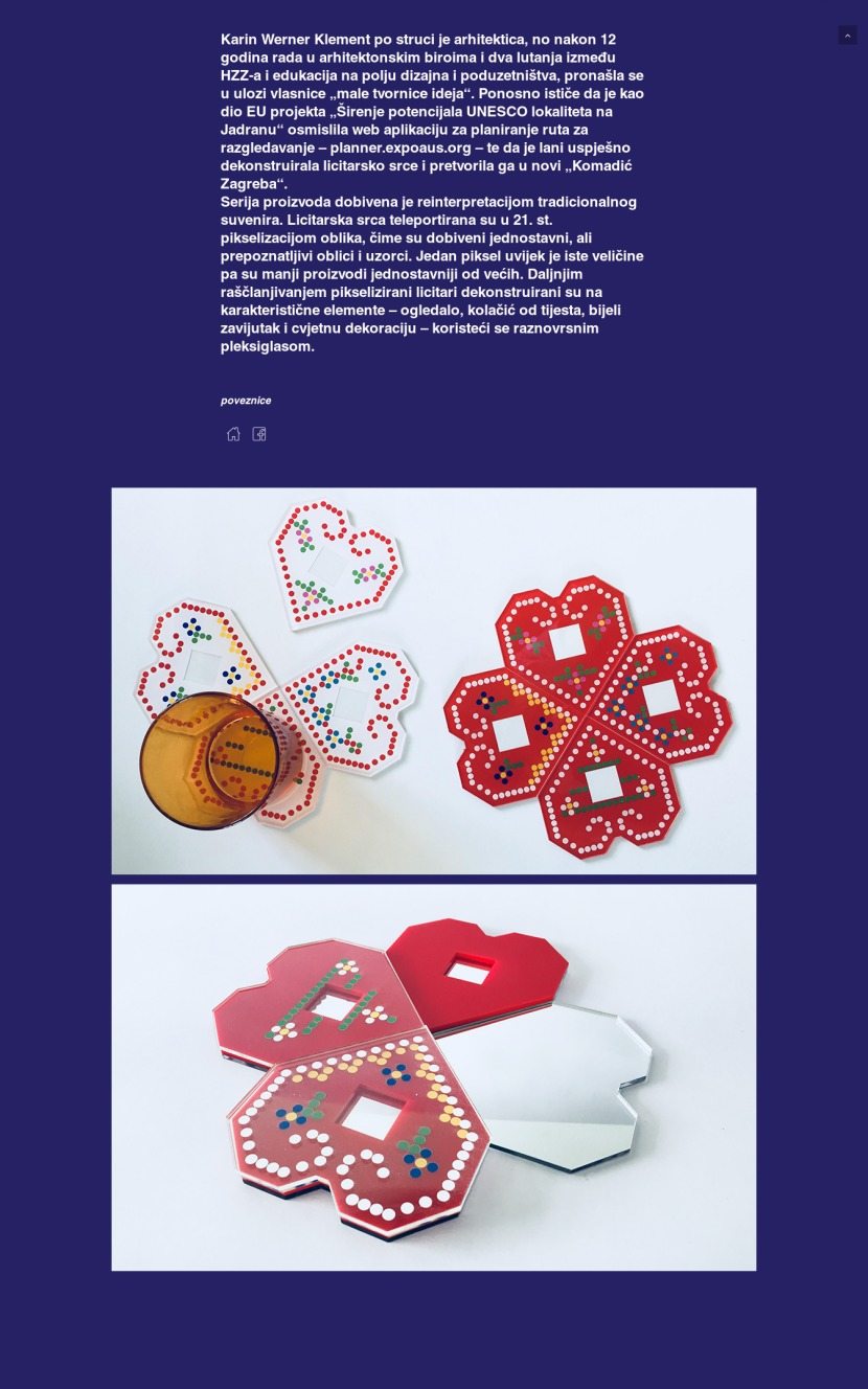 Zagreb Design Week - pikselizirana licitarska srca